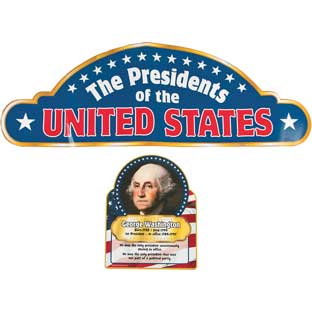 Presidents Learning Charts - 45 charts, 1 header card