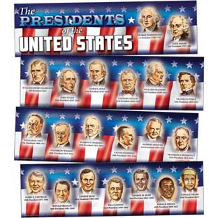 Presidents Of The United States Mini Bulletin Board Set