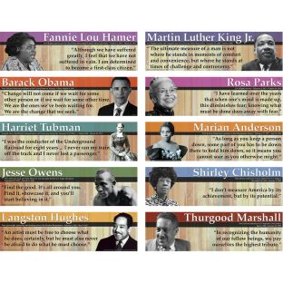 Notable Black Americans Mini Bulletin Board - 10 pieces