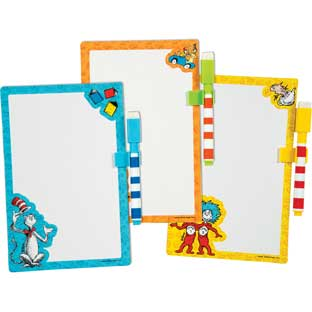 Dr. Seuss Whiteboards With Dry Erase Markers  Set Of 12