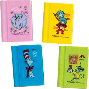 Dr. Seuss™ Book Erasers – Set Of 12
