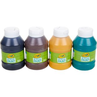 Crayola Acrylic Paint  Earth Colors  Set Of 4