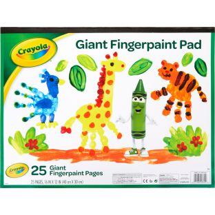 Crayola Giant Finger Paint Pad  25 Pages