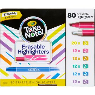 Take Note! Erasable Highlighters  Set Of 80