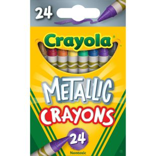 Crayola Metallic Crayons  Set Of 24