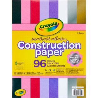 Crayola Sweetheart Collection Construction Paper  96 Sheets