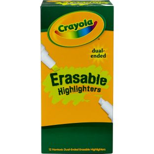 Crayola Dual-Ended Erasable Highlighters  Set Of 12