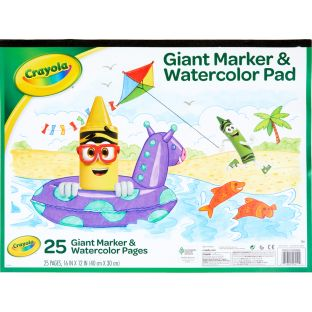 Crayola Giant Marker And Watercolor Pad  25 Pages - 25 sheets