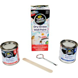 Take Note! Dry Erase Wall Paint  Covers 20 Sq. Feet  Clear - 1 can