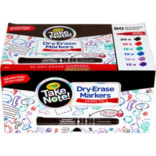 Take Note! Chisel-Tip Dry Erase Markers  Set Of 80