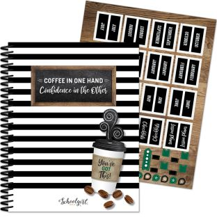 Industrial Café Teacher Planner - 1 planner, 46 stickers