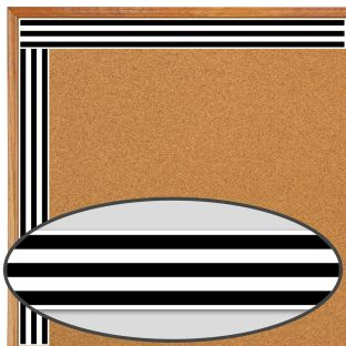 Industrial Caf Black and White Stripes Straight Border