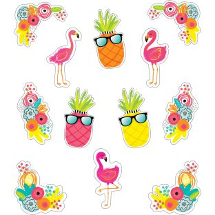 Simply Stylish Tropical Accents  XL Colorful Cutouts  Assorted