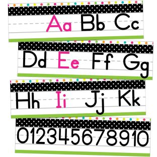 Simply Stylish Tropical Alphabet Line Manuscript Mini Bulletin Board Set