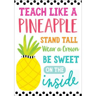 Simply Stylish Tropical Teach Like A Pineapple Poster