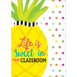 Simply Stylish Tropical Life Is Sweet Poster - 1 poster