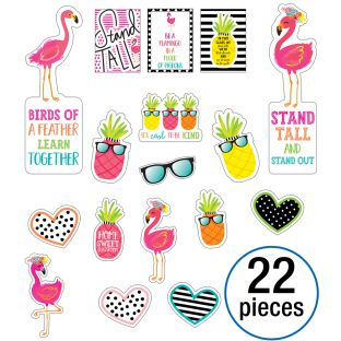 Simply Stylish Tropical Motivational Mini Bulletin Board Set