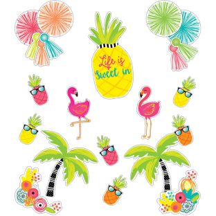Simply Stylish Tropical Life Is Sweet Bulletin Board Set