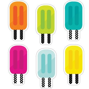 Simply Stylish Tropical Pops Colorful Cutouts  Assorted - 36 cutouts