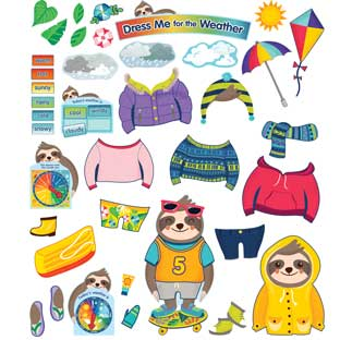 One World Dress Me For The Weather Bulletin Board Set