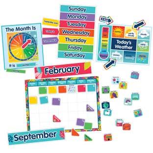 One World Calendar Bulletin Board Set