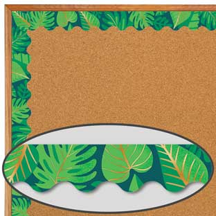 One World Tropical Leaves Scalloped Border - 1 border trim