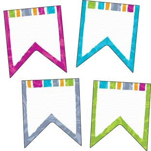 Color Harmony Pennants Classic Accents - 36 pieces