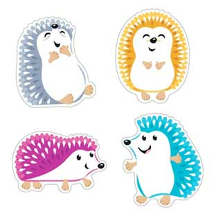 Colorful Hedgehogs Classic Accents - 36 pieces