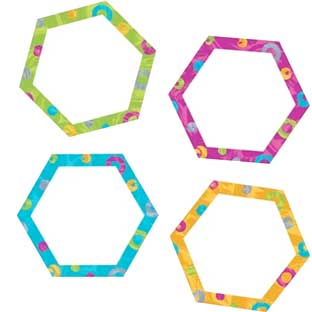Hexa-Swirls Mini Accents - 36 pieces