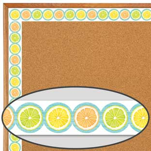 Lemon Zest Citrus Slices Diecut Border Trim - 1 border trim