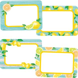 Lemon Zest Name Tag Labels - 36 Labels