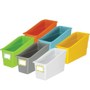 Lemon Zest Durable Book And Binder Holders - 12 bins, 36 labels