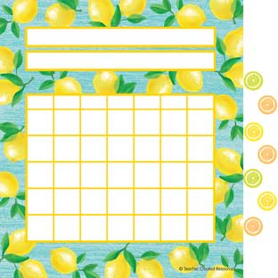 Lemon Zest Incentive Charts With Mini Stickers