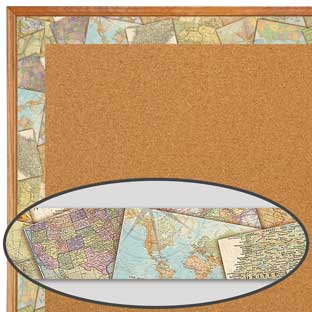 Travel The Map Straight Border Trim - 1 border trim