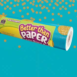 Better Than Paper Bulletin Board Roll  Teal Confetti