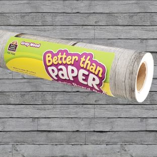 Better Than Paper Bulletin Board Roll  Gray Wood - 1 roll