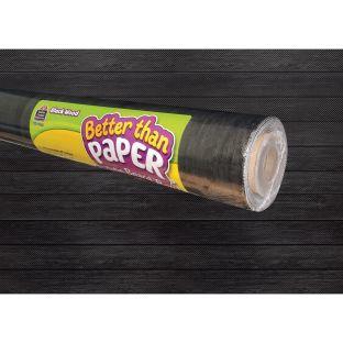 Better Than Paper Bulletin Board Roll Black Wood - 1 roll