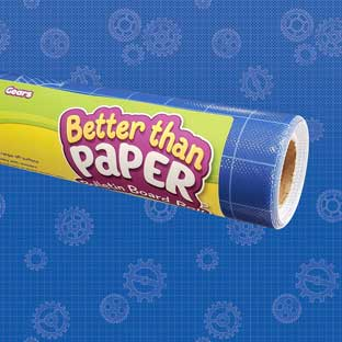 Better Than Paper Bulletin Board Roll  Gears - 1 roll