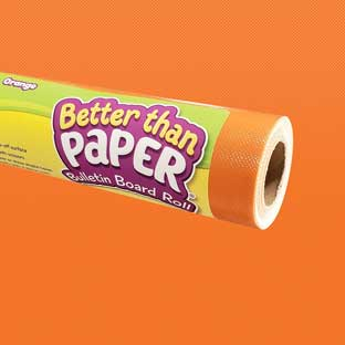 Better Than Paper Bulletin Board Roll  Orange