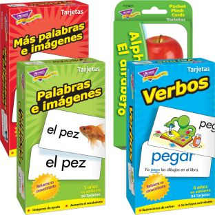 Spanish Flash Cards Bundle - 4 sets of flash cards