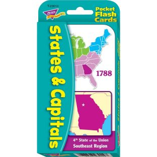 States and Capitals Pocket Flash Cards