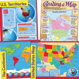 Reading A U.S. Map Kit - 5 charts