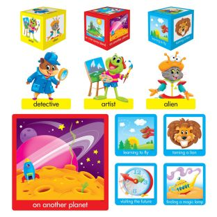 Playtime Pals Tell-A-Story Language Arts Bulletin Board Set
