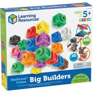 MathLink Cubes Big Builders - 200 cubes