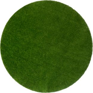 "GreenSpace Artificial Grass Area Rug  7'6"" Diameter  Round - 1 rug"