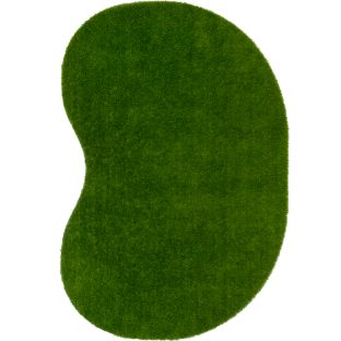 GreenSpace Artificial Grass Area Rug  4' By 6'  Jellybean