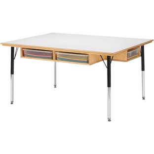 "Jonti-Craft Table With Storage  15"" By 24"""