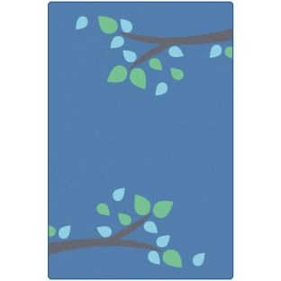 KIDSoft Branching Out Rug  Blue  4' X 6'