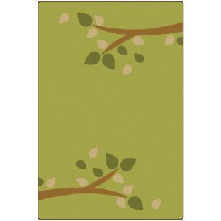KIDSoft Branching Out Rug  Green  4' X 6' - 1 rug