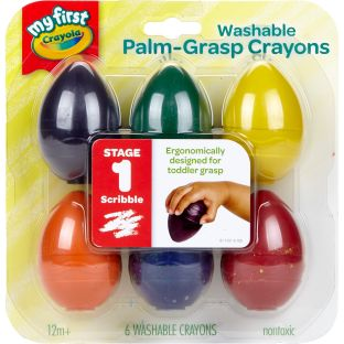 My First Crayola Washable Egg Crayons  6 Ct.